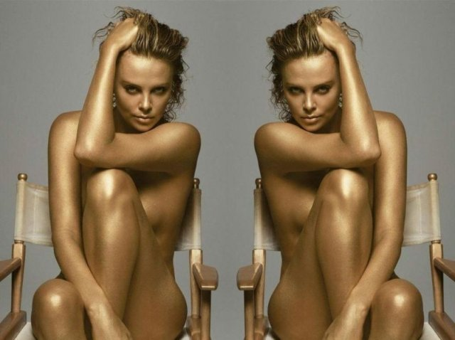 Charlize Teron x2 - Charlize Theron (pronounced /ʃɑrˈliːs ˈθɛrən/; born August 7, 1975) is a South African actress, film producer and former fashion model.<br /> <br /> She rose to fame in the late 1990s following her roles in 2 Days in the Valley, Mighty Joe Young, The Devil's Advocate and The Cider House Rules. She received critical acclaim and an Academy Award for her portrayal of serial killer Aileen Wuornos in the film Monster, for which she became the first African to win an Academy Award in a major acting category. She received another Academy Award nomination for her performance in North Country. - , Celebrity, Charlize, Theron, South, African, actress, film, producer, former, fashion, model - Play puzzles with Charlize Teron x2 or send Charlize Teron x2 puzzle ecards to your friends </td><td valign=