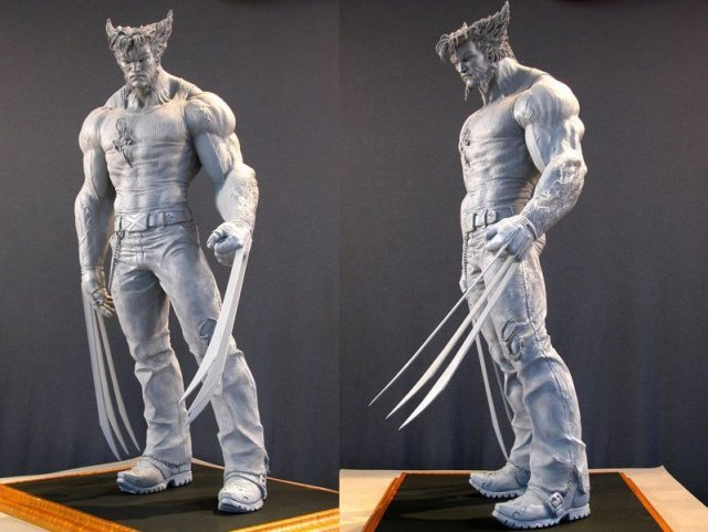 Wolverine by Mark Newman - Incredibly Realistic Sculptures by Mark Newman -  Wolverine - , Art, History, Incredibly, Realistic, Sculptures, Mark, Newman, Wolverine - Play puzzles with Wolverine by Mark Newman or send Wolverine by Mark Newman puzzle ecards to your friends </td><td valign=
